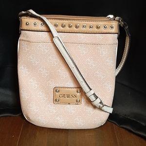 Pink Guess Crossbody Bag